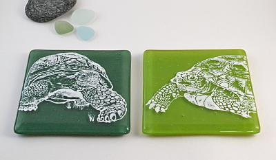 Glass Coaster - Design 1 and 2