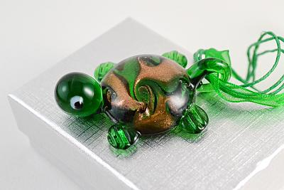 glass pendant green