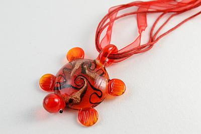 glass pendant red