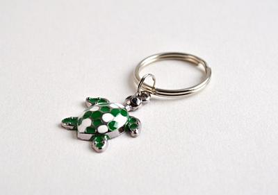 Keyring Green and White