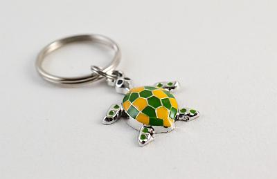 Keyring Green and Yellow