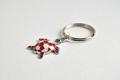 Keyring Red and White