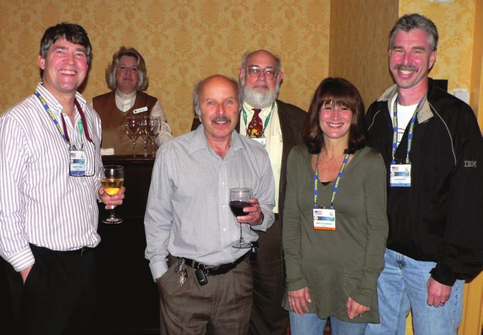 Fig. 6.  Former Elkan Lecturer, Dr Elliott Jacobson, with other guests at the reception.